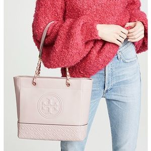 Tory Burch Fleming Tote Shell Pink